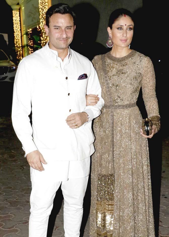 Saif Ali Khan and Kareena Kapoor at Shilpa Shetty and Raj Kundra's #Diwali bash. #Bollywood #Fashion #Style #Beauty #Hot #Desi #Sexy