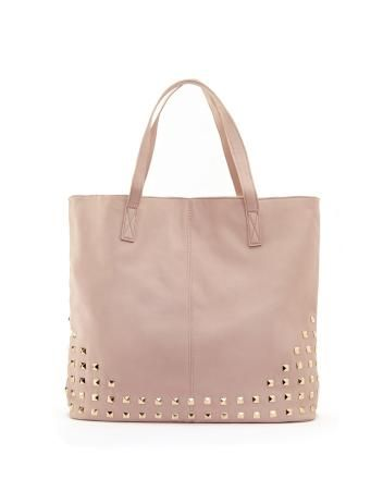 Large tote bag with studs