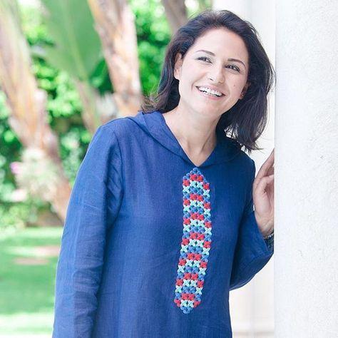 Djellaba de la nouvelle collection ramadan 2016 portée par la belle #choumicha_chafay #choumicha #djellaba , #ss16 #blue #embroidery #moroccanstyle #moroccanfashion