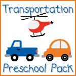 Transportation Preschool Pack from @Jolanthe @ Homeschool Creations