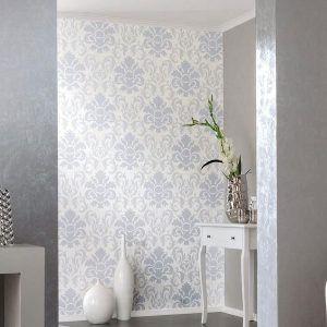 White Glitter Wallpaper Bedroom
