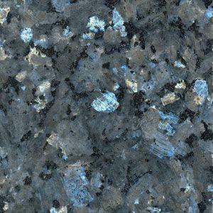 Lowe's Premium Granite Colors: Blue Pearl, very consistent metallic blue stone with black and gray flecks.