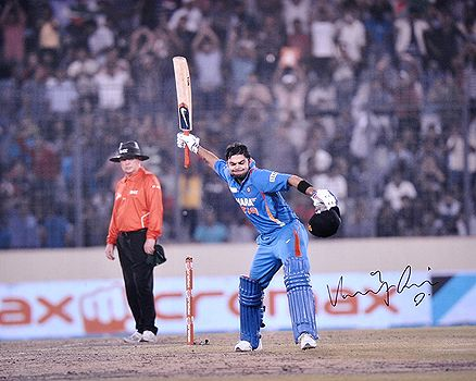 Virat Signed poster celebrating century against Pakistan, scored 183 runs @ Collectabillia | #StoryLTD #Virat Kohli #Cricket #Photography