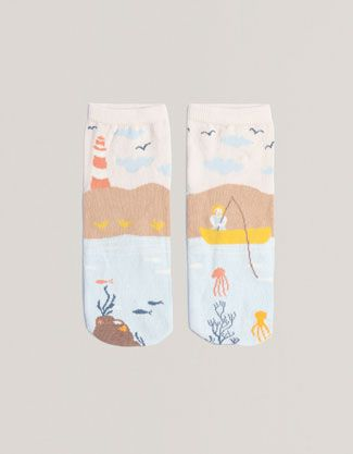 Short seascape socks - Socks - Accessories - United Kingdom