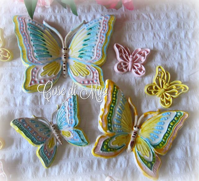 Cose di Mya: Farfalle in Ceramica