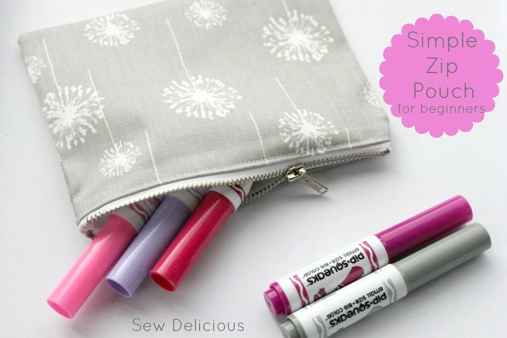 Sew Delicious: Simple Zip Pouch Tutorial For Beginners