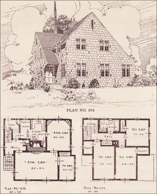 The Telegram Plan Book Portland Or English Cottage No 675 O M Akers Craftsman Style House Plans House Plans Vintage House Plans