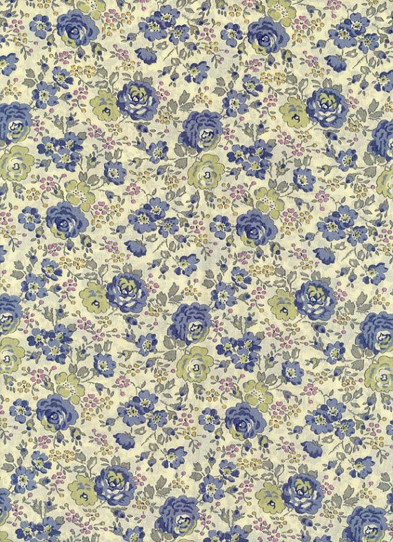Felicite in Blue Liberty Tana Lawn Fabric by MissElany on Etsy