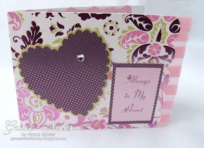 """""""Always in My Heart"""", feminine Valentine designed by Grace M. Baxter. #Cricut #SweetheartsCartridge"""