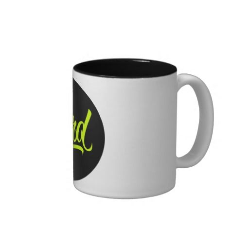 NERD Neon Coffee Mug available at www.zazzle.com/letterhype #lettering #letterhype #LetteringMug #calligraphy #Nerd