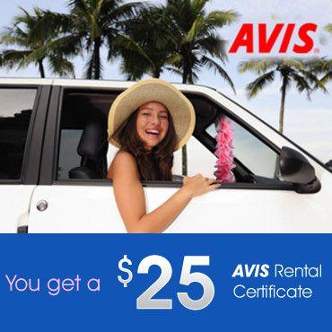 $25 Avis Gift Card : $10 + Free S/H