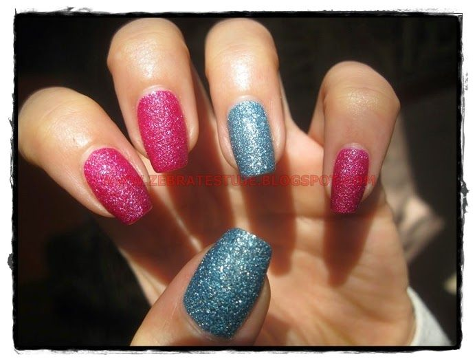 Zebra Testuje: Kolorowe mani - z piaskami :]