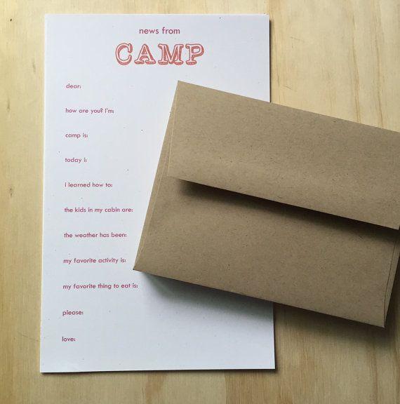 kids camp stationery vintage inspired camp stationery set