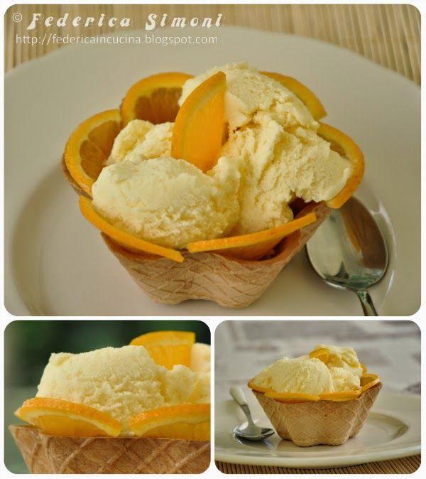 La cucina di Federica: Gelato all'arancia
