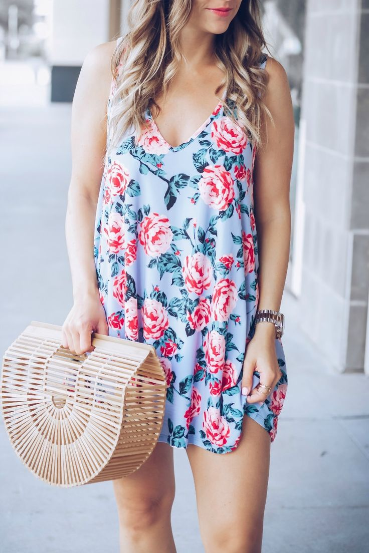 floral swing dress, on SALE for $62 | #OOTD by Houston Fashion Blogger, The Styled Fox - @_Anna_English on Instagram