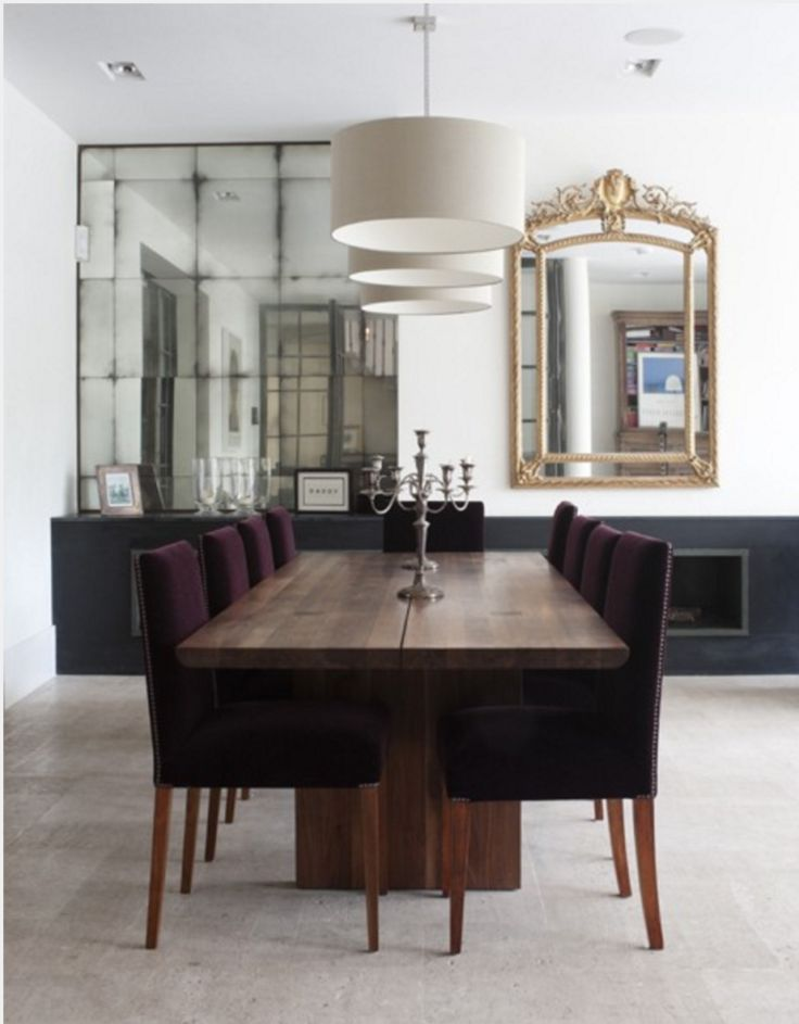 wooden dining tables dining chairs mirror mirror the room dining rooms