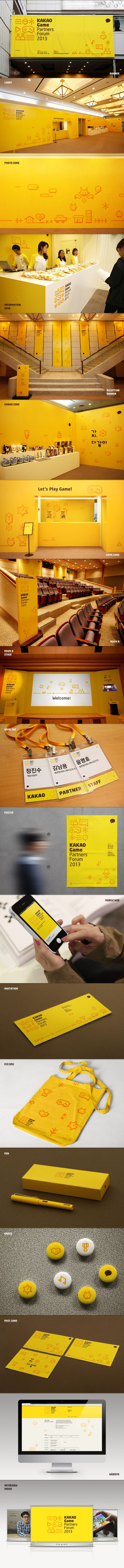 KAKAO Game Partners Forum Brand eXperience Design by Plus X , via Behance.