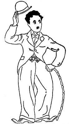 Charlie Chaplin drama coloring