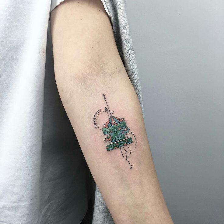 Tattoo done by: Baris Yesilbas #carrusel #mini #minitattoo
