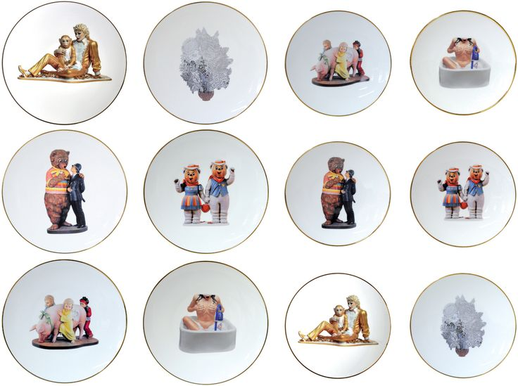 Limited Editions Bernardaud Limoges - Jeff Koons Banality Series...  (the most affordable Koons you'll ever see?)