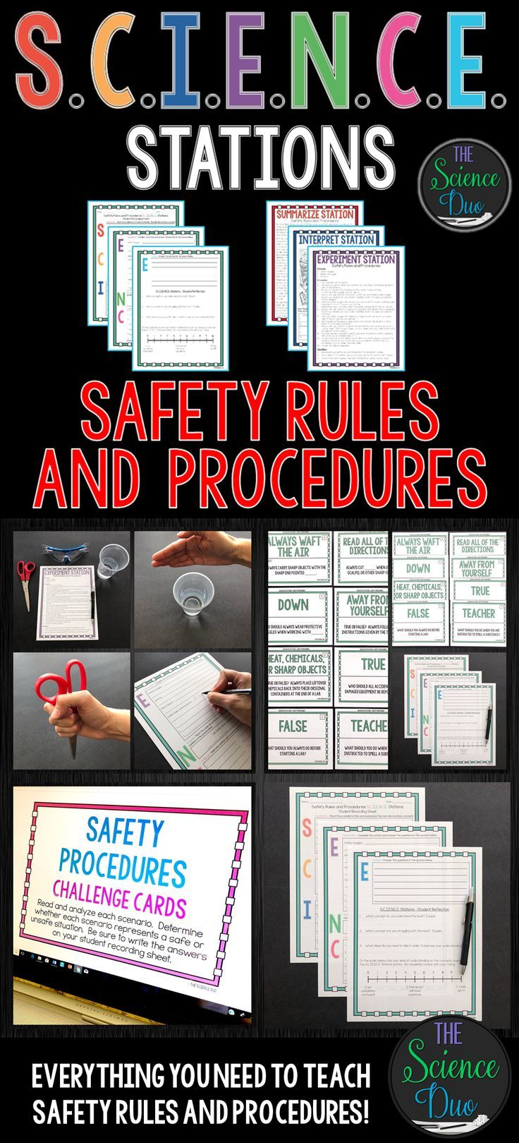 Lab Safety Rules And Procedures S C I E N C E Stations Distance Learning Scientific Method Science Lab Safety Science Safety