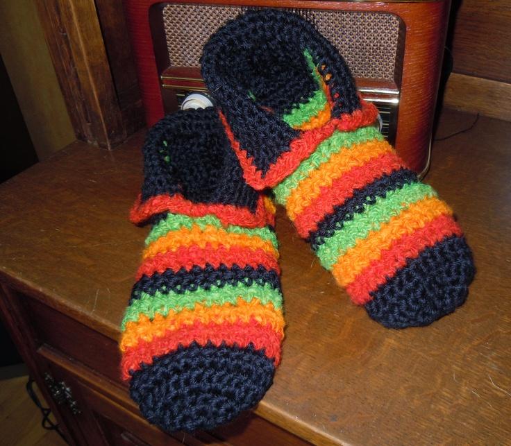 """Pantuflas """"Bob Marley"""" para mi amado ♥"""