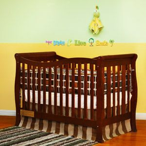 AFG Athena Nadia 3-in-1 Fixed Side Crib with Toddler Rail, Cherry - Walmart Site