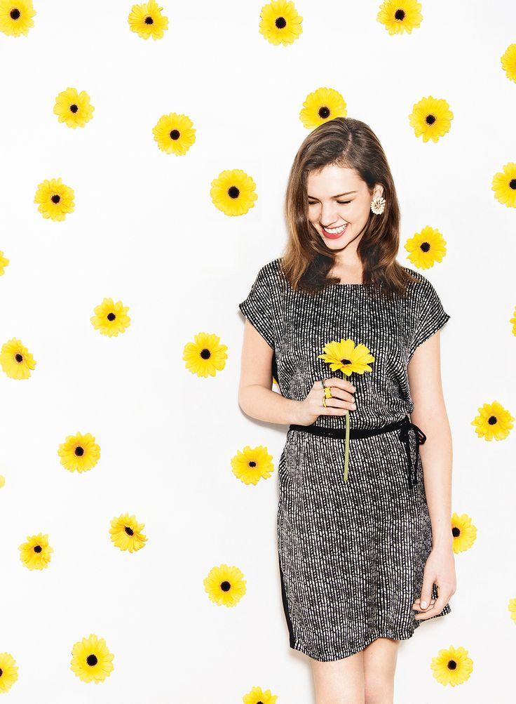 Dit jurkje is gemaakt van soepele jersey: de perfecte keus voor een mooie voorjaarsdag.