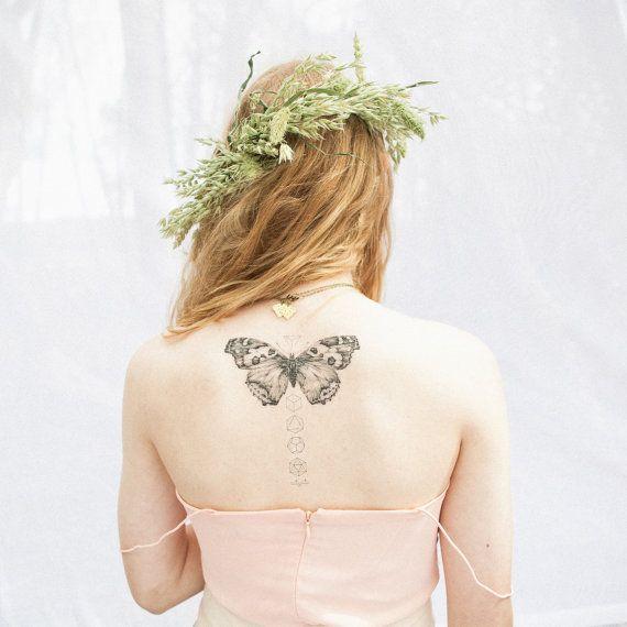 Butterflies & Geometrics Temporary Tattoo Set by VictoriasAviary