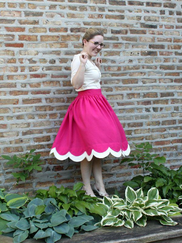 Scallop Skirt Dress using 1950's Simplicity Pattern 3791