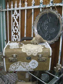 Framed chalk board ...Vignettes Antiques