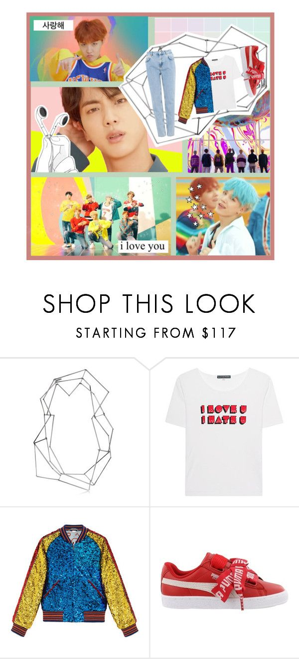 """""""DNA๑"""" by mimosaposa ❤ liked on Polyvore featuring BANCI GIOIELLI, AlexaChung, Gucci, Puma and Pull&Bear"""