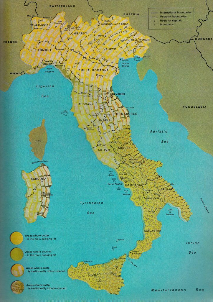 81 best mapsd flags images on pinterest maps trips and cards oc map of italy divided into regions of pasta type and cooking fat scanned from time life books 1968 x here for more ma gumiabroncs Gallery