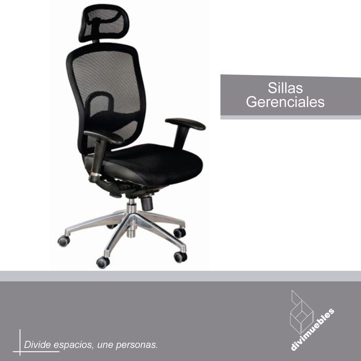 Sillas gerenciales para mayor comodidad y personalidad en tus oficinas.