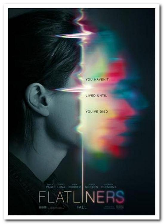 FLATLINERS - 2017- Original 27x40 ADVANCE Movie Poster - NINA DEBROV, ELLEN PAGE