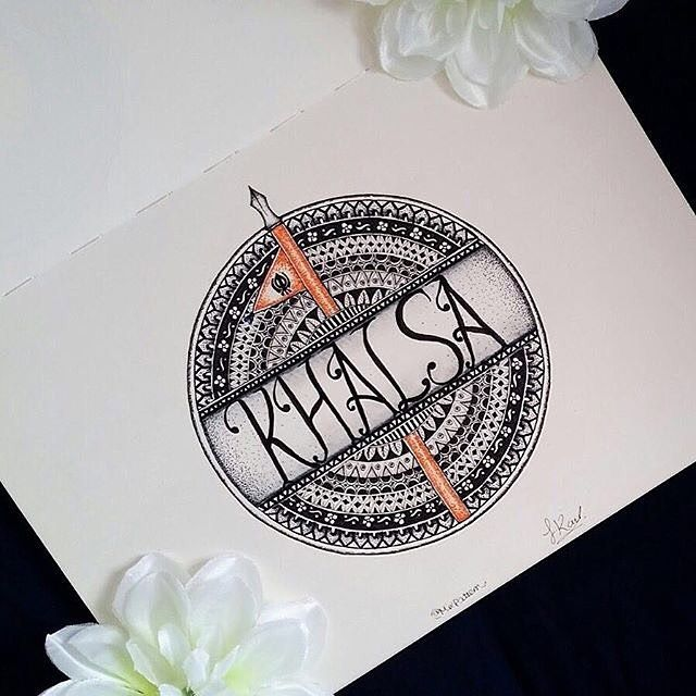 HAPPY VAISAKHI! --beautiful artwork by @mixpattern  #sikh #punjab #vaisakhi