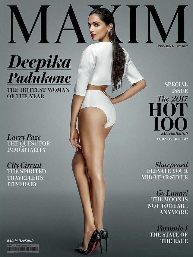 Deepika Padukone on the cover of Maxim India cover magazine