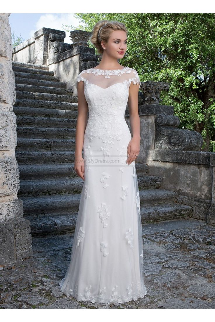 Sincerity Bridal Wedding Dresses Style 3880 Sabrina Neckline Jacket Accents This Sweetheart Straight Gown USD38900