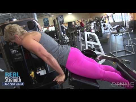 Transform 3: Hamstrings Training . . . Target the hamstrings using a lying leg curl machine, which you'll find in most gyms. Though this may be a very straightforward piece of equipment, Ava demonstrates variations to accommodate all levels from the beginner to an advanced lifter with different degrees of intensity.
