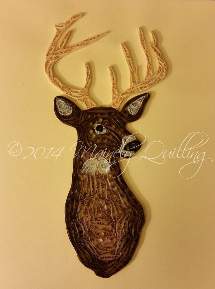 This handsome quilled whitetail deer is part of Mainely Quilling's animal…