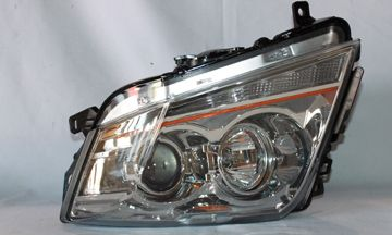 2008-2010 Cadillac CTS Chrome/Clear Halo Headlights - TYC - Right - Passenger - 2008, 2009, 2010.