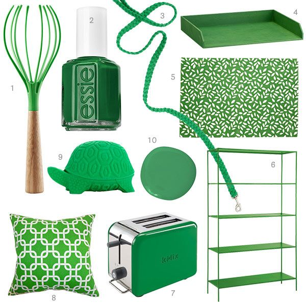 A Dog Leash A Rug Toaster And More Finds In Kelly Green