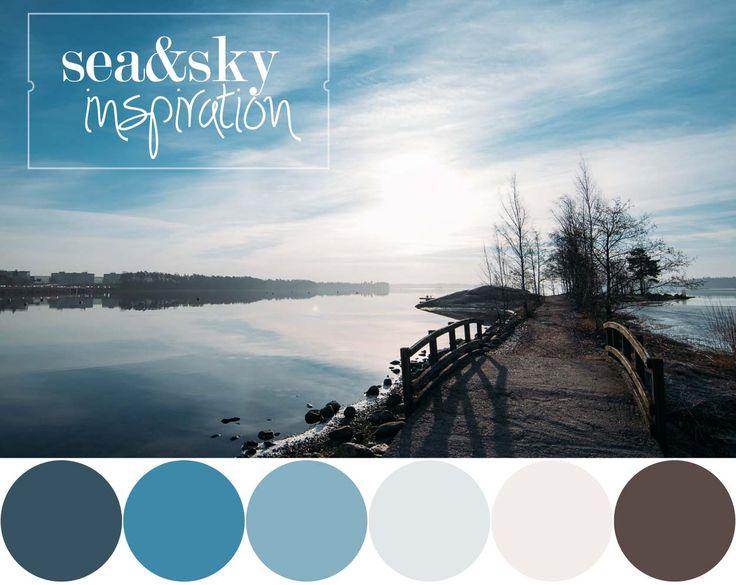 Colour Palette InspiredBy Sea&sky | Sofia Damén | photo by www.dmkphotography.fi