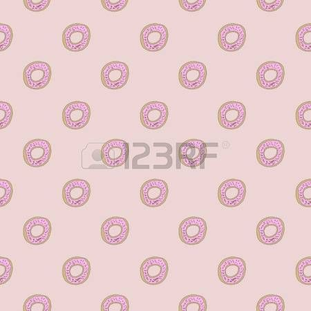Cute Donut Seamles Repeat Pattern Design