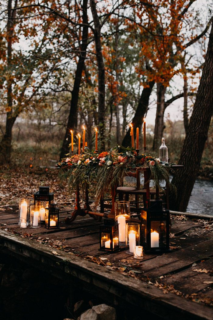 Intimate Autumnal Springfield Mo Forest Wedding At Rockspan Lodge