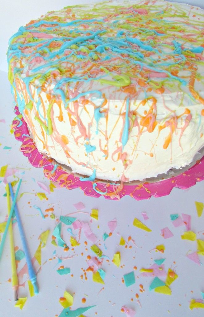 Cake Decorating Painting Icing : 17 Best images about party time - art party on Pinterest ...
