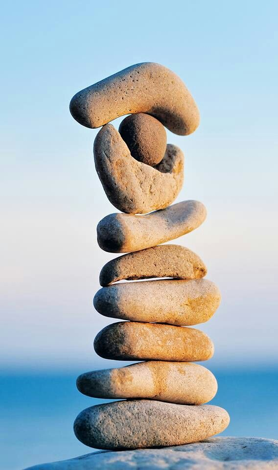 The Cairn: symbol of balance. LOVE cairns. I would like to start one in my garden.