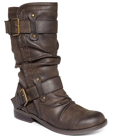 Brown mid-calf boot - I have these in black! So comfy and just my style!