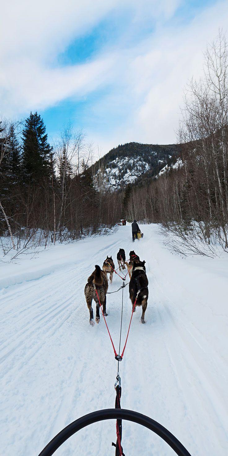 Sledding in Quebec - by Lauren Bath