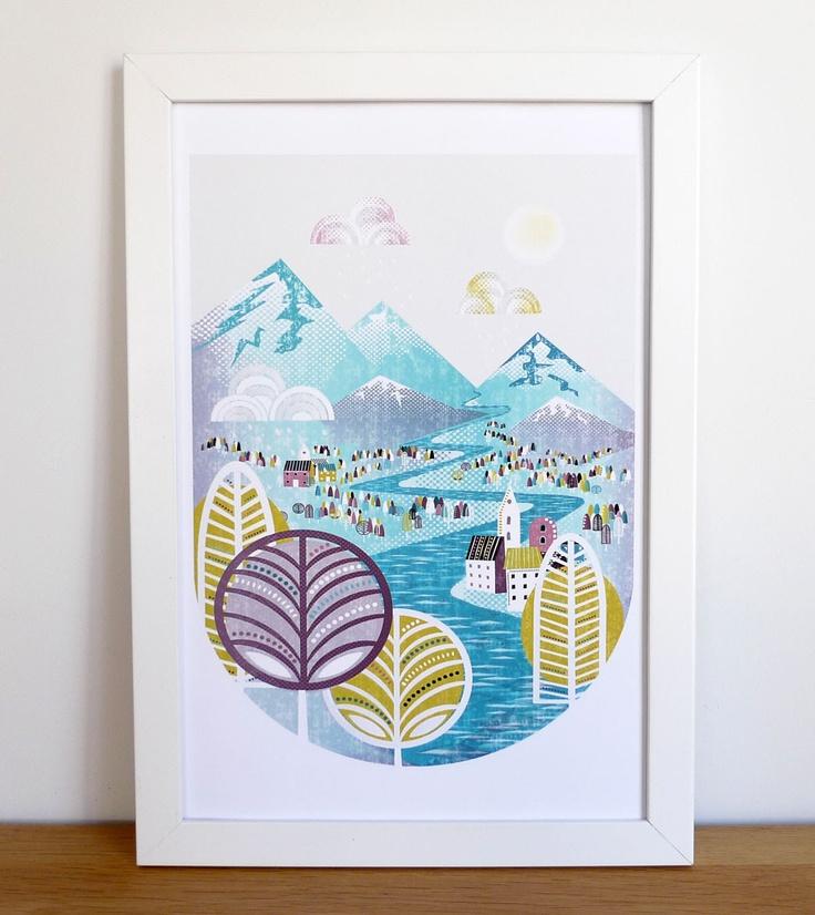 Druppels Neervallen, Art Print. €10,00, via Etsy.